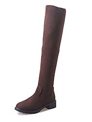Для женщин Ботинки Удобная обувь Армейские ботинки Кашемир Зима Повседневные Для прогулок Удобная обувь Армейские ботинки На крючкахНа