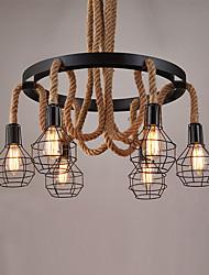 Lampe suspendue ,  Traditionnel/Classique Rustique Rétro Retro Peintures Fonctionnalité for Style mini MétalSalle de séjour Chambre à