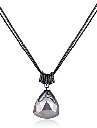 Xu Women's Fashionable Glass Pendant Long Necklaces