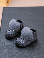 Girl's Boots Comfort Fur Casual Black / Gray / Burgundy