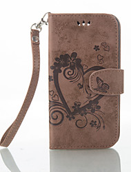 Love Plum Pattern PU Leather Embossing Holster For LG K10 K8 K7