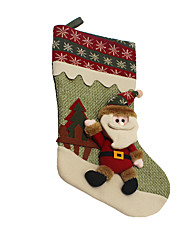 Christmas Decorations / Christmas Toys Holiday Supplies Santa Suits / Snowman Textile Dark Red / Green All