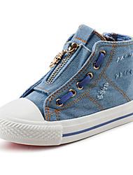 Jungen-Stiefel-Outddor Lässig-Leinwand Baumwolle-Flacher Absatz-Komfort-Blau
