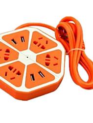 Utility USB Multifunction Socket (Orange Hex)