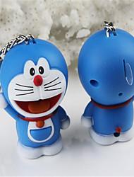 A Dream Doraemon Doraemon Cat LED Sound Emitting Small Pendant Keychain