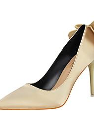 Damen-High Heels-Lässig-Seide-Stöckelabsatz-Komfort-Schwarz / Rosa / Rot / Grau / Gold / Burgund