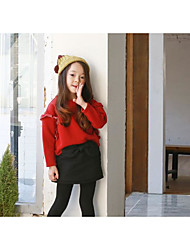 Girl's Casual/Daily Solid Hoodie & SweatshirtCotton Spring / Fall Red