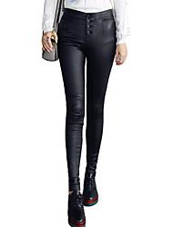 Pantalon Aux femmes Slim simple / Chic de Rue / Sophistiqué Polyuréthane Elastique
