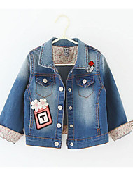 Girl's Casual/Daily Solid Jacket & CoatCotton Spring / Fall Blue