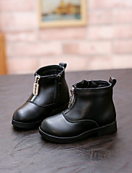 Girl's Boots Comfort Synthetic Casual Black Red