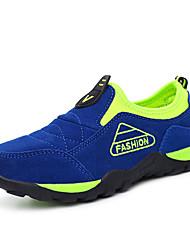 Para Meninos-Tênis-Conforto-Rasteiro-Azul Taupe Verde Claro Azul Real-Camurça-Para Esporte