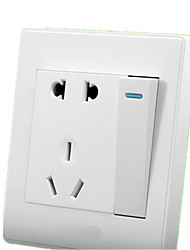 MORANO 86 Type One-Port Open-Type With Five-Hole Wall Switch With Socket Panel Two-Pronged 1 Switch 1 Open 5-Hole Socket