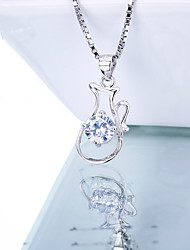 Women's Jewelry S925 Silver Zircon Charm Kettle-shaped Pendant for Women