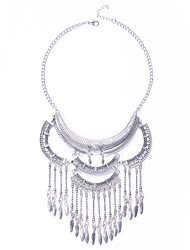 The European And American Fashion Metal Necklace Simple And Easy Double Tassel Necklaces