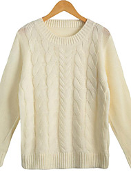 Women Twist Knitted Sweater Solid Color O-Neck Long Sleeve Loose Casual Pullover Tops Jumper Knitwear sweter mujer