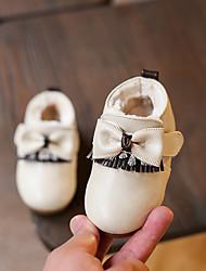 Mädchen-Flache Schuhe-Lässig-MikrofaserKomfort-Rosa / Beige