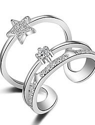 Ringe Kristall / Imitation Diamant bezaubernd / Multi-Wege Wear / Sexy / Crossover / Modisch / EinstellbarHochzeit / Party / Alltag /