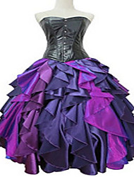 Cosplay Costumes Movie/TV Theme Costumes Movie Cosplay Purple Solid Dress Halloween Female Polyester