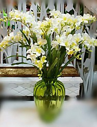 """1 Branch 1 Ramo Seda Orquideas Flor de Mesa Flores artificiais Total Length:43"""""""
