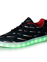 Unisexe-Extérieure / Décontracté / Sport-Marron-Talon Plat-Confort / Nouveauté-Sneakers-Similicuir / Tissu