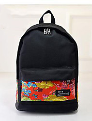 Women Oxford Cloth / Polyester Sports / Casual / Outdoor Backpack Black