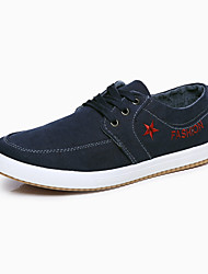 Masculino-Tênis-Conforto-Rasteiro-Azul Cinza Azul Real-Tecido-Casual