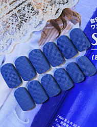 24Pcs  The New Nail Strips To Winter Good Cowboy  Denim Blue Texture  1Set