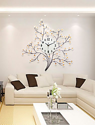 Modern/Contemporary Houses Wall ClockOthers Acrylic / Glass / Metal 71*72cm Indoor Clock