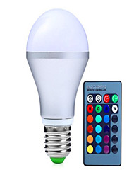 10W E14 / GU10 / B22 / E26/E27 Ampoules LED Intelligentes A70 9 LED Haute Puissance 1100 lm RVBGradable / Commandée à Distance /