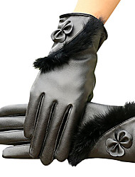 Women's Winter Touch Screen Gloves Luxury Brand Pu Leather Super Driving Warm Tactical Gloves Guantes