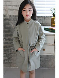 Girl's Casual/Daily Solid Trench CoatPolyester Fall