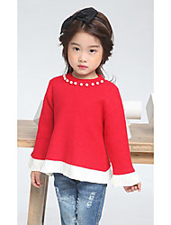 Girl's Casual/Daily Solid ShirtWool Winter / Spring / Fall Pink / Red