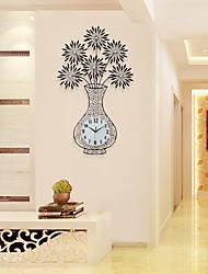 Moderne/Contemporain Niches Horloge murale,Autres Acrylique / Verre / Métal 47*97CM Intérieur Horloge