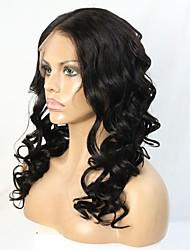 10-24 polegadas cabelo virgem brasileiro de 150% de densidade ao vivo encaracolados glueless peruca cheia do laço