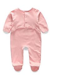 малыш Блуза-На каждый день,Однотонный,Хлопок,Зима / Весна / Осень-Розовый / Белый / Серый