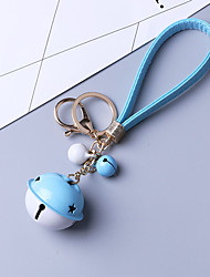 The Latest Bell Car Keychain Creative Gift Leather Rope Key Pendant Key Chain Pendant