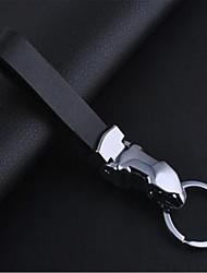 carro jaguar couro chaveiro de metal de liga de zinco cabeça de leopardo anel de chave