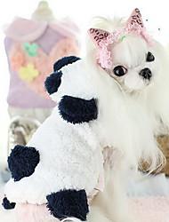 Dog Coat Dog Clothes Cute Casual/Daily Cartoon White