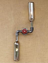ac 220v-240v 6w rustique / lodge laiton fonctionnalité de e27 pour le mur de lumière ampoule includedambient appliques murale fumée gris