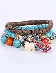 New Fashion Cute Elephant BRACELET LADIES Turquoise Jewelry Multi Beaded Bracelet Manu Facturers Selling
