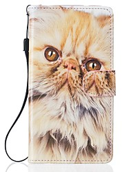For Samsung Galaxy S7 Edge Case Cat PU Leather Wallet  S5 S6 S7