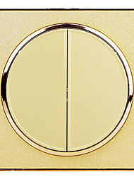 Circular Champagne Jin Erkai Double Charged 86 Type Wall Switch