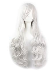 venta caliente de color blanco sintéticas pelucas cosplay pelucas baratas para las mujeres del partido