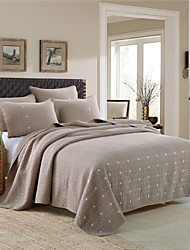 Solid Quilts Material King 2pcs Shams / 1pc Quilt