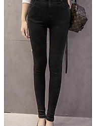 Sign # 916 Washed Denim buckle two significant lanky elastic waist high snow female feet outer wear leggings big