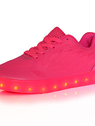 Women's Led Sneakers Spring / Fall / Winter Comfort Tulle Outdoor / Athletic / Casual Low Heel Led Red / White / Light Green