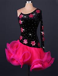 Costumes de Cosplay Plus de costumes Fête / Célébration Déguisement Halloween Rouge / Vert / Bleu Mosaïque Robe CarnavalOrganza /