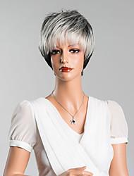 новое прибытие смарт короткие прямые монолитным парики человеческие волосы высокого качества смешанный цвет