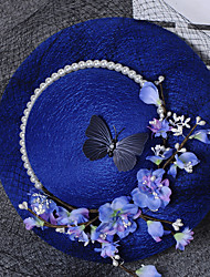 New Noble And Elegant Style Flower Bowknot Gauze Hat