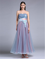 Prom / Formal Evening Dress A-line Sweetheart Floor-length Tulle with Appliques